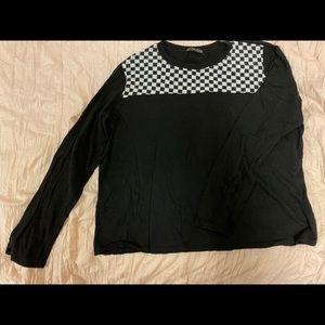 Long Sleeve Checkered Top